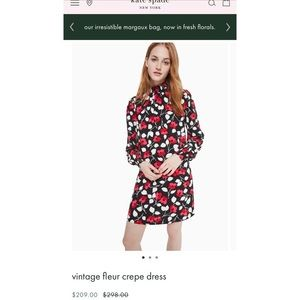 Kate spade vintage fleur crepe dress